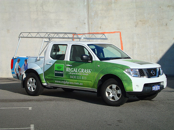 Vinyl Wrap Nissan Navara For Regal Grass Perth