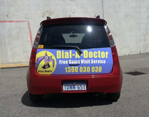Signs-on-a-vehicle-Dial-A-Doctor