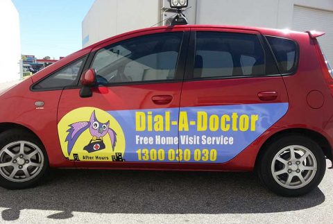 Signwriting-a-vehicle-for-Dial-A-Doctor