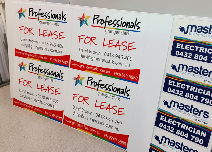 Corflute Signs Printing by Perth Graphics Centre