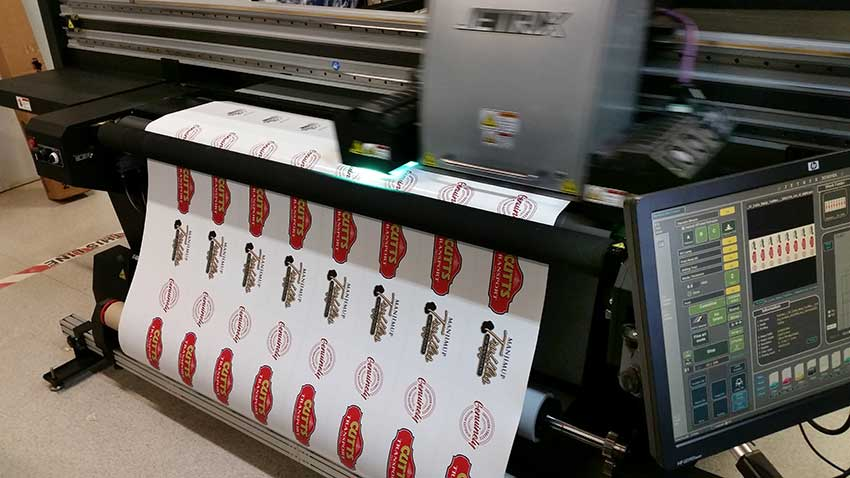 Sticker printing machine perth
